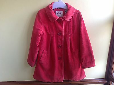 Mini Boden Cord Coat Red age 3-4 years