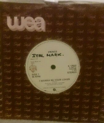 "Prince I Wanna Be Your Lover UK 7"" Single"