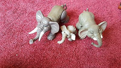 Fisher-Price Elephant Family Articulated Moveable Figurines 3 Pcs