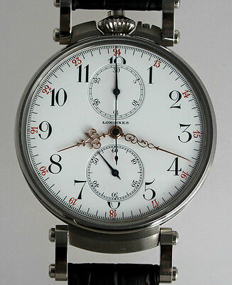 UNIQUE LONGINES WW Air Force Luftwaffe PILOT Style mariage CHRONOGRAPH WATCH