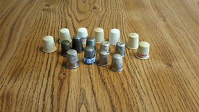 VINTAGE 16 THIMBLES GERMANY And DELFT SEWING THIMBLES
