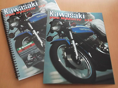 Kawasaki H2 H2A 750 1972 1973 Parts Manuals + Sales Brochues.