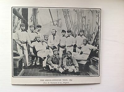 Cricket Photo - Anglo American Team 1859 1st Overseas Cricket Tour