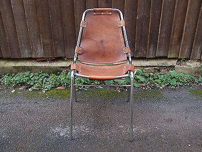 Original Charlotte Perriand Les Arcs chair 1960s needs stitching repair
