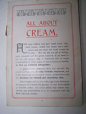 Vintage advertising. Fussell's Rich Cream Small Cookbook.