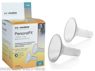 MEDELA BREAST PUMP PERSONALFIT BREASTSHIELD BREAST SHIELD LARGE 27 MM x2 #87274