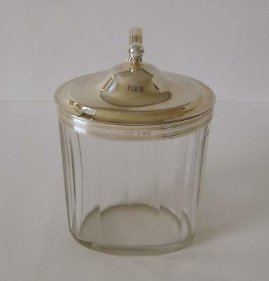 George III Sterling Silver Lidded Glass Mustard Pot London 1798 Abstinando King