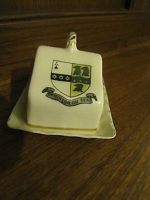 Crested Ware Lots listed~Frinton on Sea Crest~Butter Dish