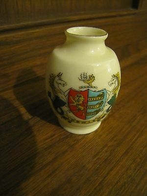 Crested Ware Lots listed Warwick China for WHSmiths~Ipswich Crest~Vase