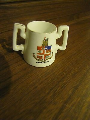Crested Ware Lots listed This~Foley~Harrogate  Crest. Loving/Cider 2 handled Cup