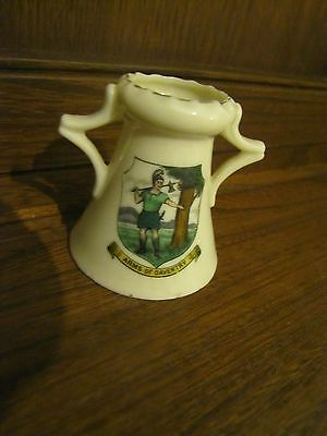 Crested Ware Lots listed Tuscan China~Arms of Daventry Crest~2 handled vase