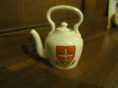 Crested Ware Lots listed~Colchester~Kettle