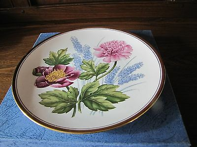 Spode~Garden Flowers~ No 4 Peony and Grape Hyacinth. Boxed Signed D. Emery