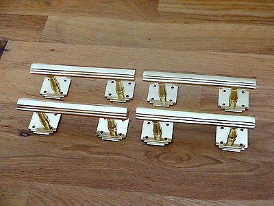 4 X Brass Art Deco Door Or Drawer Pull Handles Cupboard Furniture  Knobs