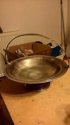 9 Inches Vintage Silver Plate Mappin & Webb Prince's Plate Fruit Basket Bowl