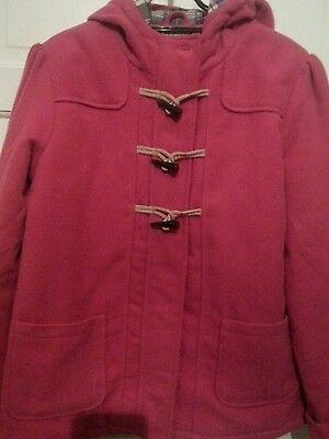 Marks And Spencer Cerise Pink Girls Duffle Coat Age 13-14