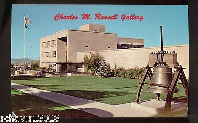 Charles M Russell Gallery Museum Montana Vintage PC Postcard Unposted 451