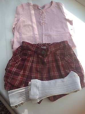 GIRLS NEXT T/SHIRT&SHORTS OUTFIT AGE 4-5 yrs
