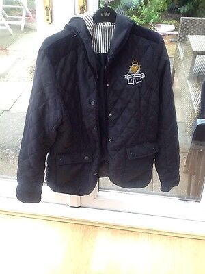 navy Quilted jacket size 14, TK Maxx, hood, next day despatch