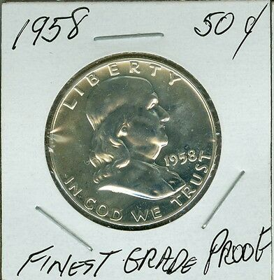 1958 Silver Half Dollar Finest Top Grade Proof