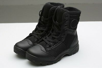 Boots Unisex Army Hiking Hunting Lightweight Casual Leather and Canvas Mens 11UK
