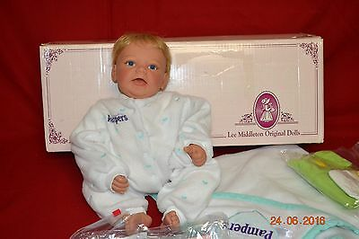 """Lee Middleton #358 """"Gentle Touch Baby""""  by Reva in original box with COA"""