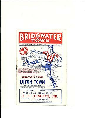 1963/64 FA Cup  1st round Bridgewater Town v Luton Town