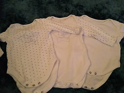 Next Long Sleeved Body Vests 3-6 Months