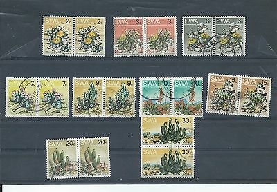 South West Africa stamps A few pairs from the 1973 series used (V185)