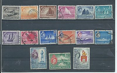 Singapore stamps. 1955 etc series used. $5 has creases (Y126)