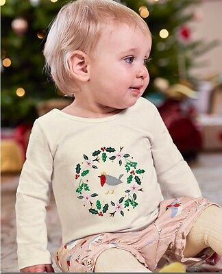 new BABY BODEN Christmas outfit ROBIN BLOOMERS & TOP appliqué 3-4 new SET