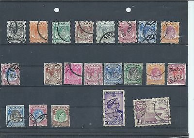 Singapore stamps.George VI used lot. (Y055)