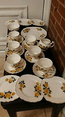 royal vale tea set ridgway pottery yellow roses