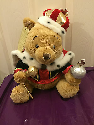 Disney Store Limited Edition Winnie the Pooh King Plush Toy