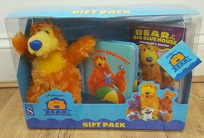 Bear in the Big Blue House Gift Pack BNIB. PLUSH Book and VHS Video