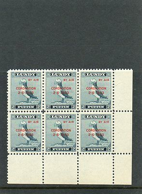 Gb Lundy Island Puffin Stamps Never Hinged Mint  -By Air-