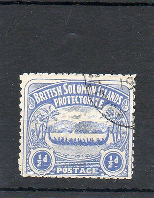 Sg 1 British Soloman Islands Used Cat £15