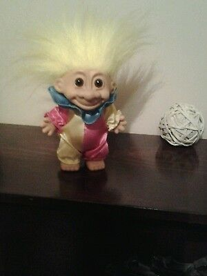 "Vintage Russ Clown Troll Doll   4"" Tall"