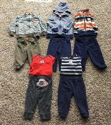 Baby Boy Carter's Lot 10 Pieces (5 outfits) 6 Months 6M Winter Fall