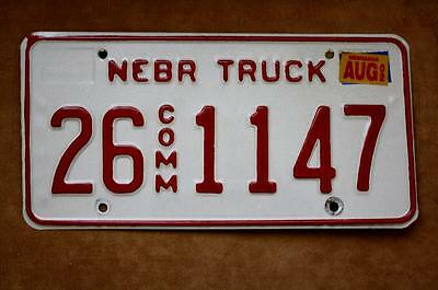 Nebraska 26-1147 License Plate 2002 Truck Commercial
