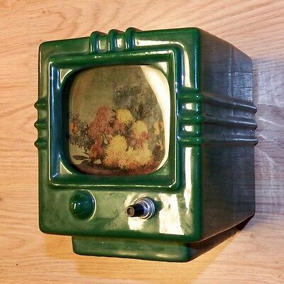 Mid-Century TV TELEVISION TV LAMP Center Section parts or repair WORKS vintage