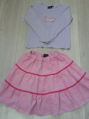 Girls' Mini Boden top and skirt, size 7-8 yrs