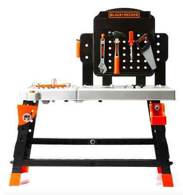 BLACK & DECKER 72-Piece Kid's Tool Kit Junior Ultimate Workbench with 72 tools