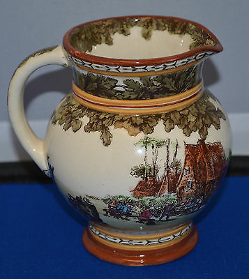 "Nice Royal Doulton Pitcher - Colonial Scene - Outdoor Scene - HN  2780 - 4"" High"