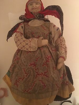 Vintage Doll Ryasan District Woman Russian Cloth 1920's Peasant Soviet Union