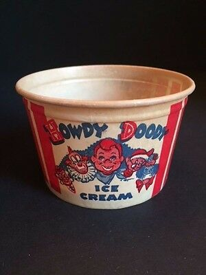 "1950's Howdy Doody, ""Un-Used"", Large Paper Ice Cream Cup"