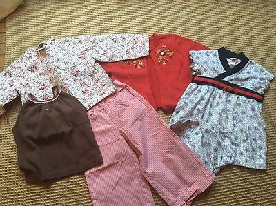 tea collection girls 18-24 months lot 5 pieces