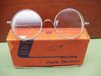 WILLSON Double Safety Goggles Spectacles Glasses w Box Steampunk Old School Cool