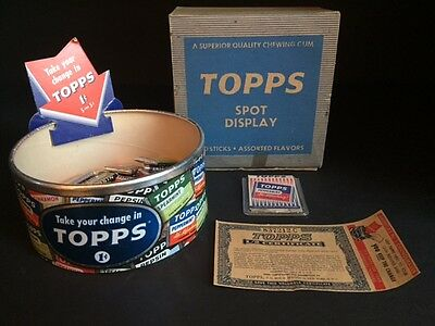 "1946 Topps, ""Spot Display"" w/ (30) Pieces of Gum (Rare)"