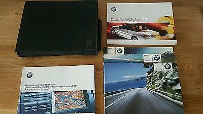BMW 3 Series Cabriolet Convertible Owners Manual Handbook Document Pack Wallet